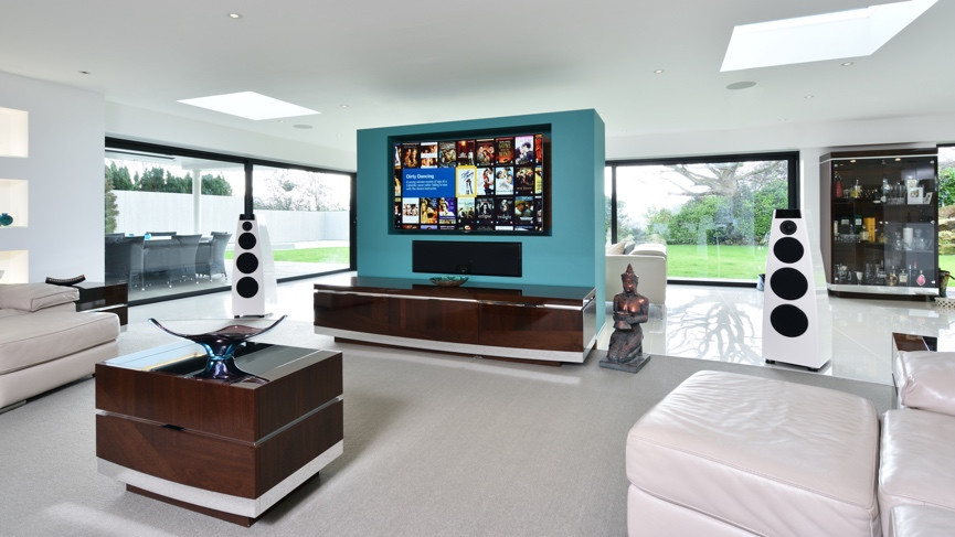 Smart Home Tours This Family Home Mixes High End Movie