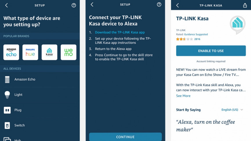How to set up TP-Link Kasa smart plugs with Alexa