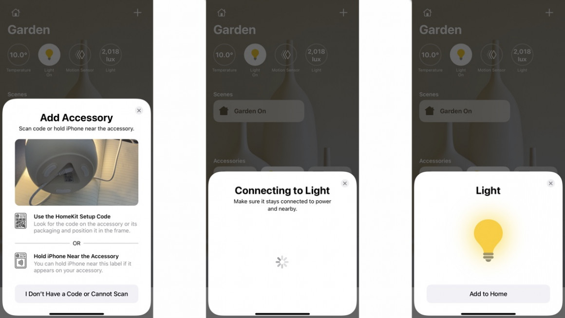 Meross homekit apple home application