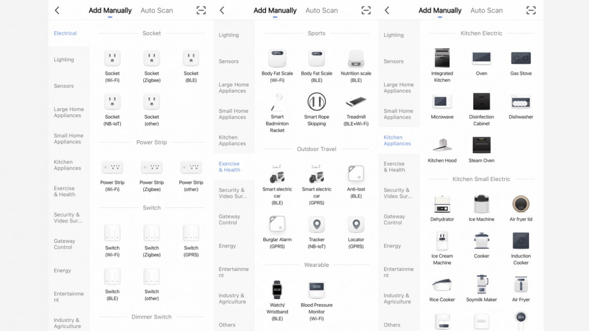 Smart Life devices listed